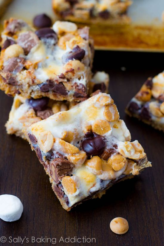 Peanut Butter S'more 7 Layer Bars by sallysbakingaddic...