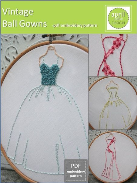 New vintage embroidery pattern from  @April Cochran-Smith Cochran-Smith Cochran-Smith Moffatt  Gorgeous!