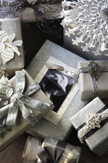 Silver gift wrapping ideas