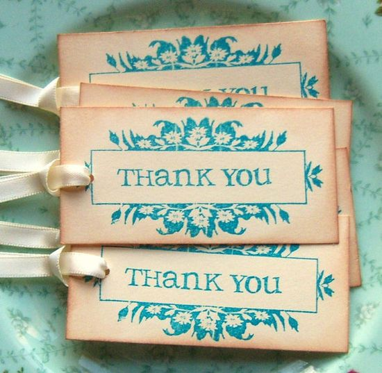 To put on hostess gifts.  Pretty sure I could do this with a stamp from Stampin Up