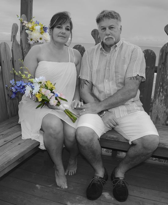 SC beach wedding photo