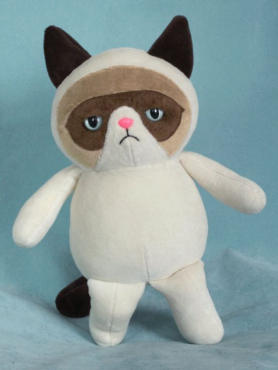 {Grumpy Cat stuffie} how cute + grumpy!