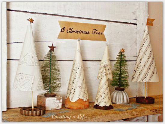 Vintage Style Mini Christmas Trees