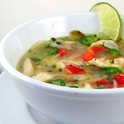 Yucatan-Style Chicken, Lime, and Orzo Soup