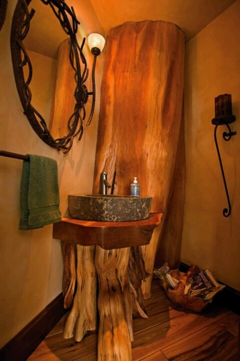 Log Bathroom design