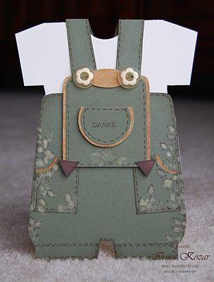 handmade card ... replicates leiderhosen ... adorable!!