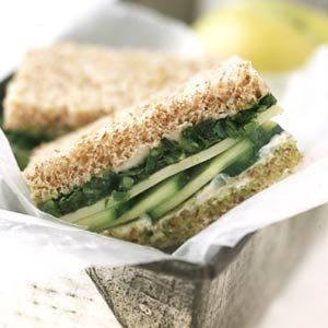 These crunchy vegetable sandwiches get flavor from a blend of fresh herbs and cheese.