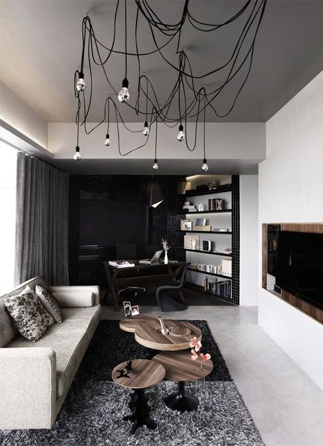 ? masculine interior living room