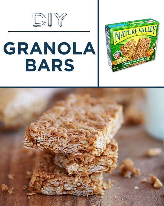 Bake granola bars with less sugar and no preservatives.