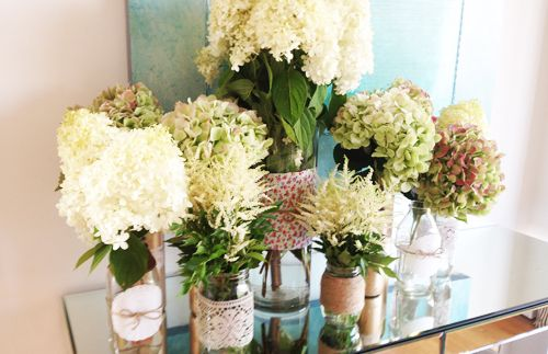 Granny Chic flower arrangements