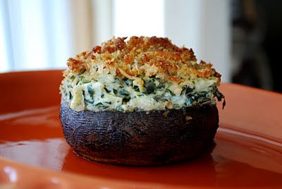 Yes, please - Spinach and Artichoke Stuffed Portabellos.