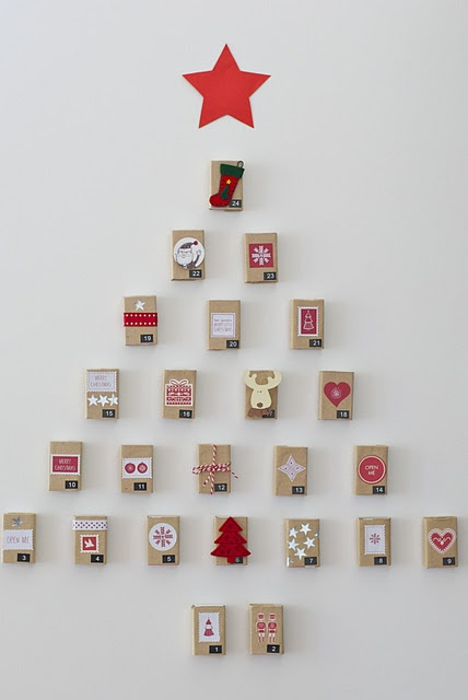 Very cute matchbox advent calendar.