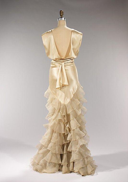 ~Dress, Evening  Irene (American)  Date: ca. 1935 Culture: American Medium: silk~