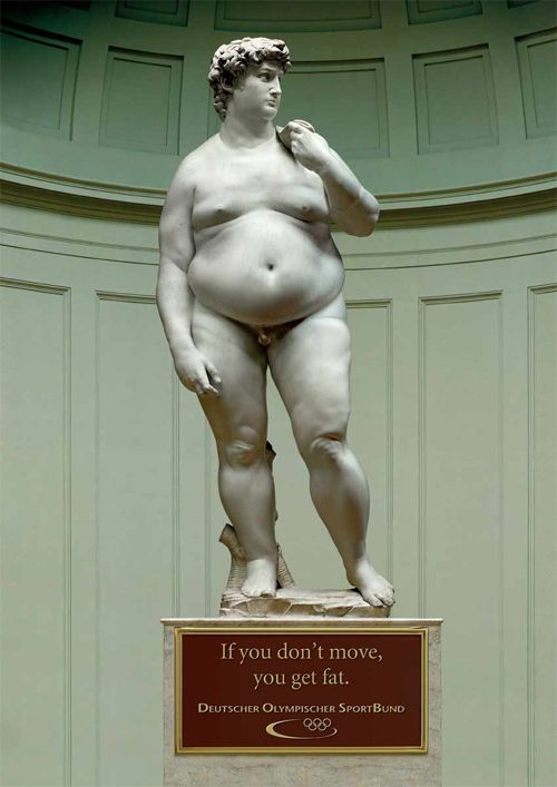 """fat david- exercise, """"don't stand still"""""""