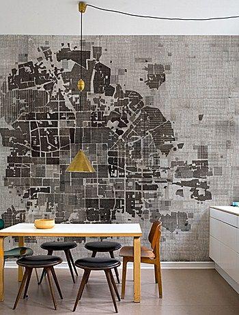 www.wallanddeco.com -- city plan as room backdrop