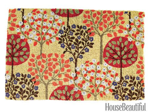 Our Harvest Trees doormat on housebeautiful.com.