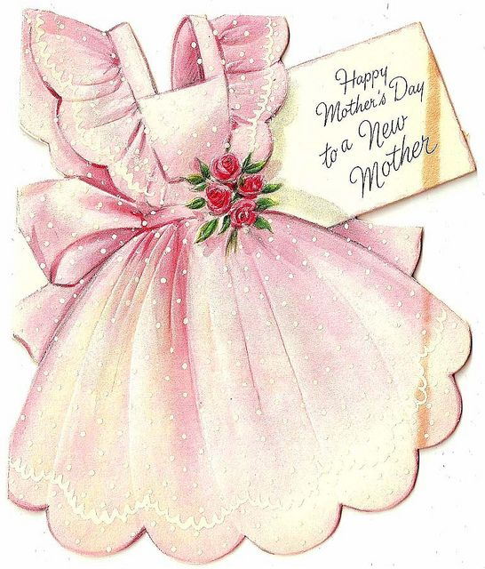 Vintage Mothers Day Apron Card