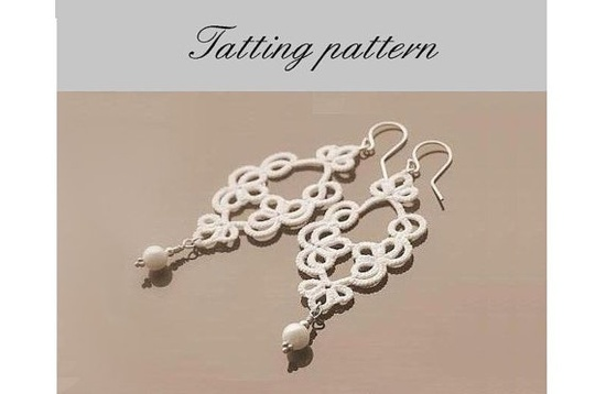 Tatting #tatted #earrings #bead