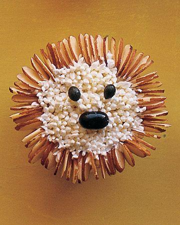 Hedgehog Cupcakes  #cupcakes