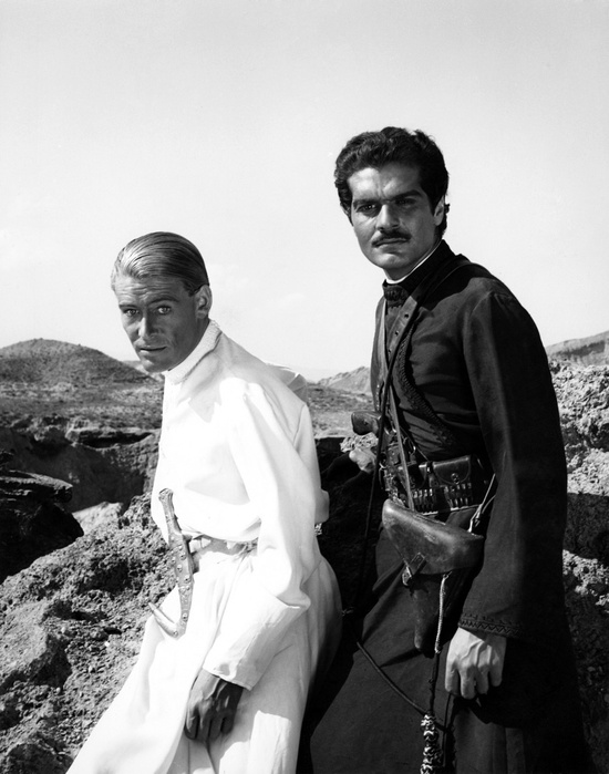 1962.  Peter O'Toole and Omar Sharif. Lawrence of Arabia.