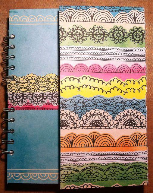 :: handmade journal :: - orange gearle