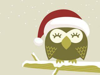 Christmas Owl Desktop Wallpaper by MyOwlBarn, via Flickr