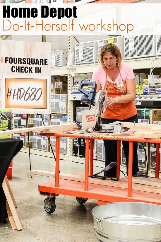 Home Depot Do-It-Herself Workshops. #HD680 #ad