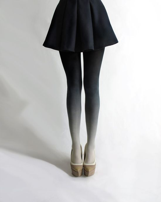 Ombré tights in Coal... had to pin these, too.