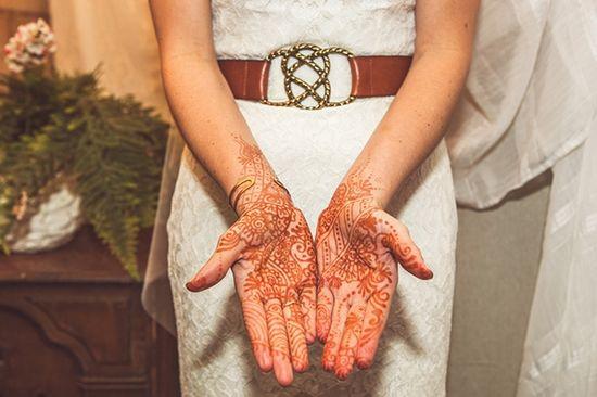 Bride + henna