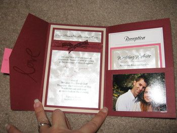 Really neat and inexpensive way to make wedding invitations.