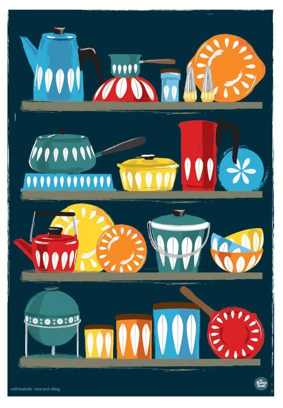 Kitchen Art Cathrineholm homewares shelf, my retronest