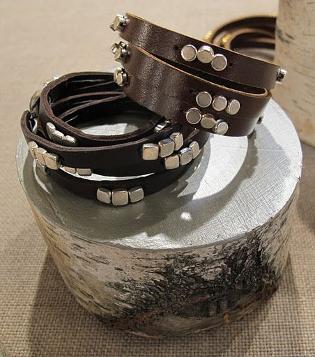 DIY beaded leather bracelets