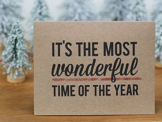 The Most Wonderful Time of the Year Christmas Card by BubbyAndBean, $20.00
