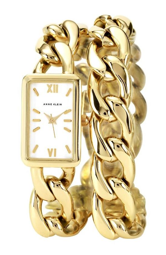 Keep time with a wrap chain watch!
