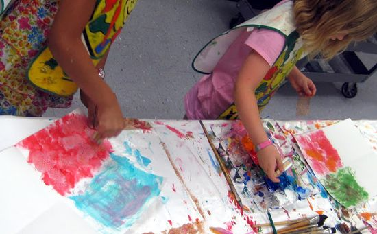 painting techniques with children