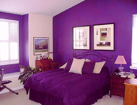 Best Black White and Purple Bedroom Decor
