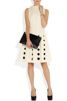 love the dots on this moschino dress