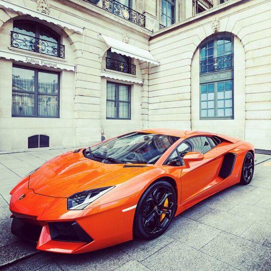 Orange Lamborghini Aventador