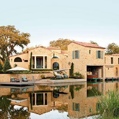 SL's Tuscan style Texas Idea House is a lakeside dream...