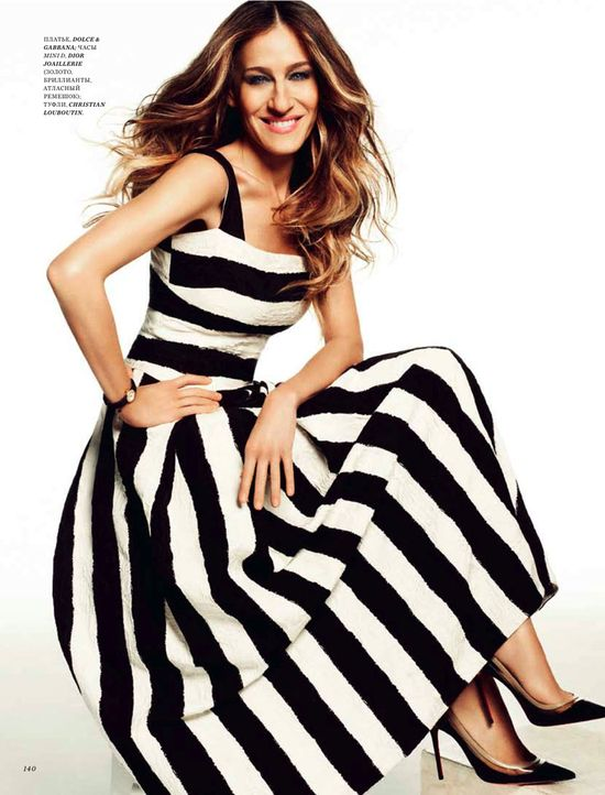 Sarah Jessica Parker Poses in Harpers Bazaar Russia June 2013 Cover Shoot by Simon Upton