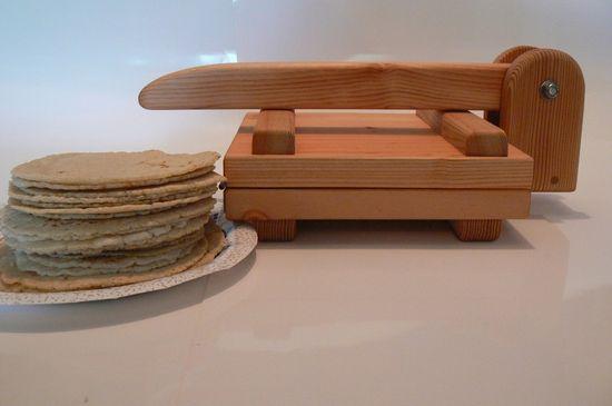 Handmade tortilla press