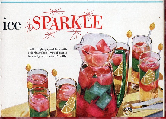 """""""Tutti Frutti Ice Sparkle"""" pic from 1955 Better Homes and Gardens Junior Cookbook."""