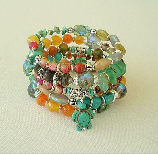 Boho Bracelet Stacked Bracelet Bohemian Jewelry by BohoStyleMe