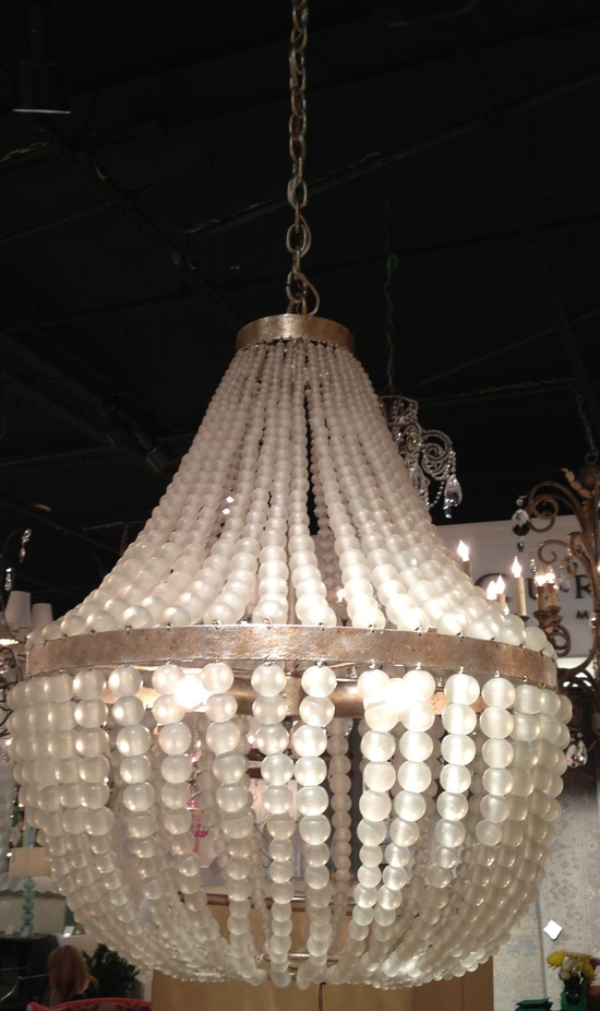 2012 Fall Market Trend: Frosted Glass Chandelier by Currey & Co. IHFC - M110 #hpmkt #stylespotters