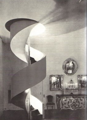Le Corbusier designed apartment for Charles de Beistegui. - spiral stairs, I have!
