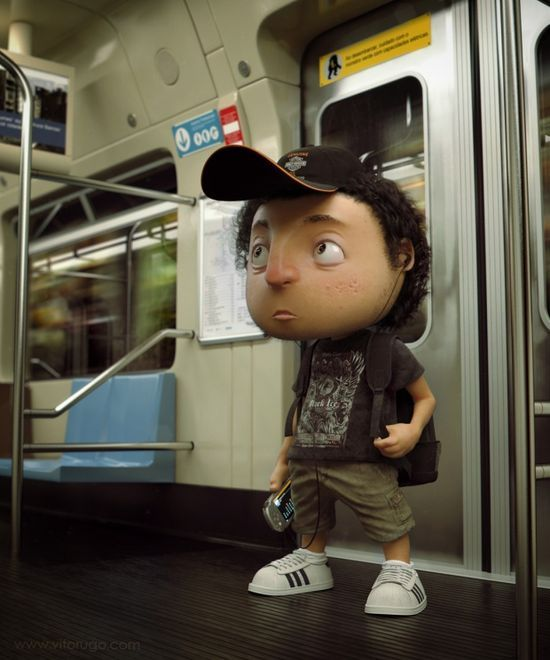 3D characters by Victor Hugo