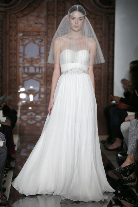 silky flowing wedding dresses 2013