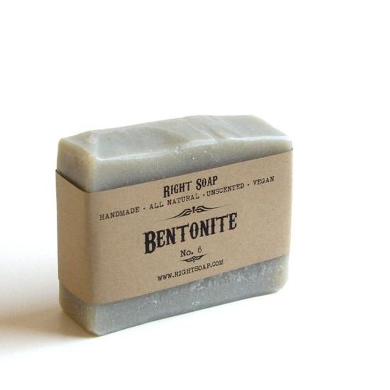 Bentonite Soap  Natural Soap Vegan Soap Unscented by RightSoap, $6.00