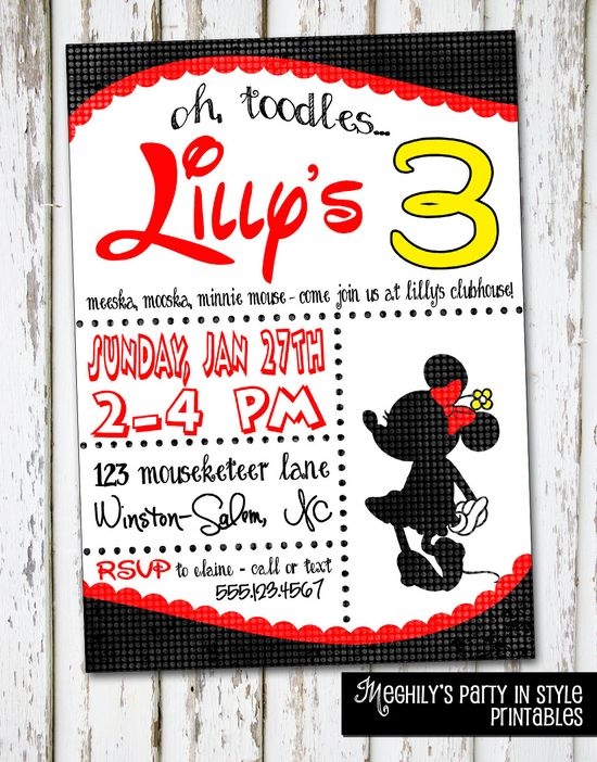 Minnie Mouse Invitation--- I LOVE this one!!!!