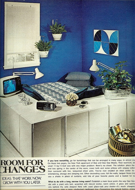 Blue room  From Seventeen, February 1974